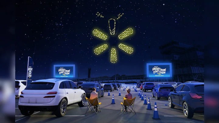 Walmart holiday drone light show launches in 8 U.S. cities for the holidays